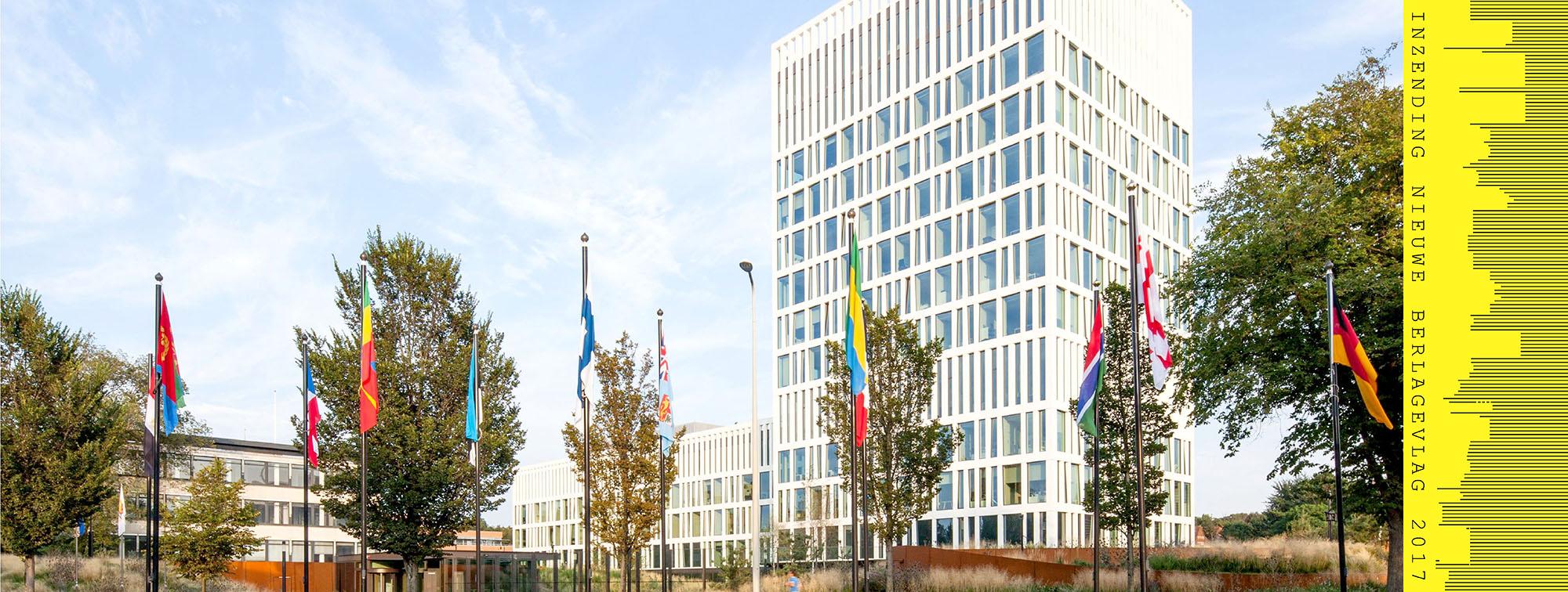 nieuwbouw eurojust ontworpen door Mecanoo