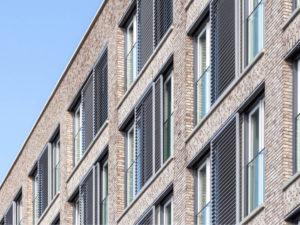 geveldetail nieuwbouw badhuisstraat ontwerp studio leon thier