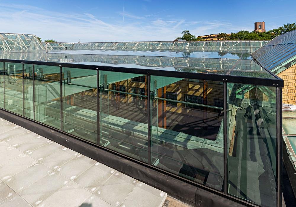 aansluiting glazen dak gemeentemuseum tuinzaal