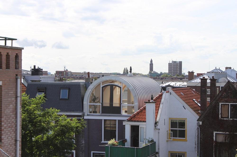 dakopbouw met rond dak aan de zuidwal