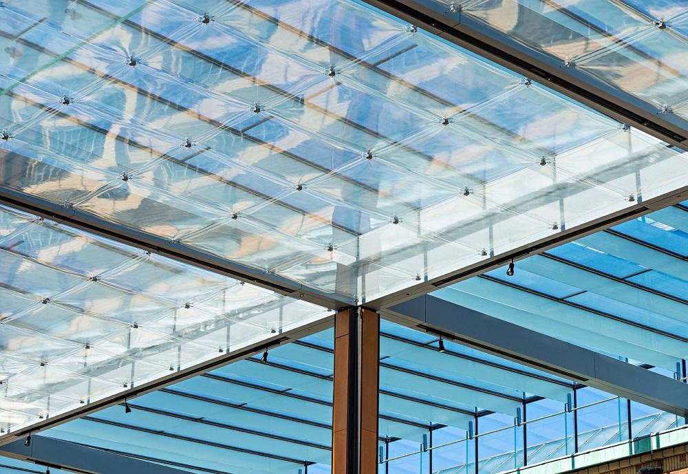 detail glazen dak tuinzaal gemeentemuseum