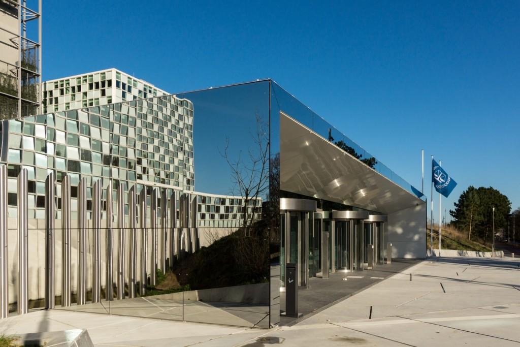 entree nieuwbouw Internationaal Strafhof