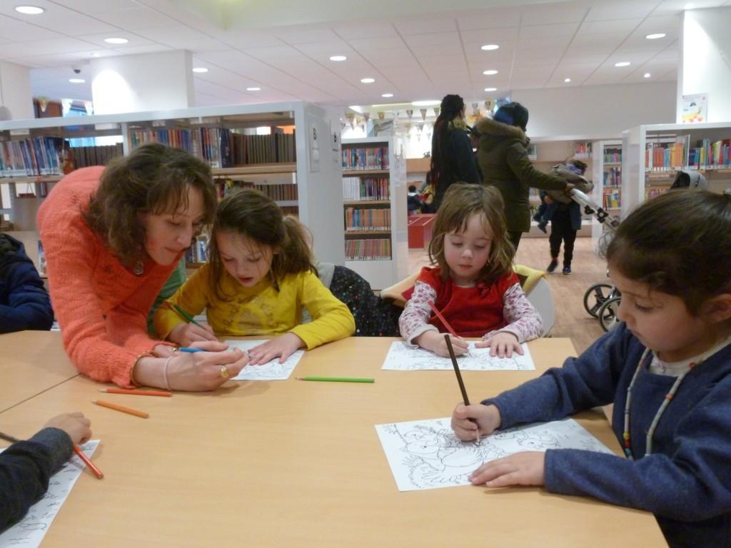 tekenen in de bibliotheek