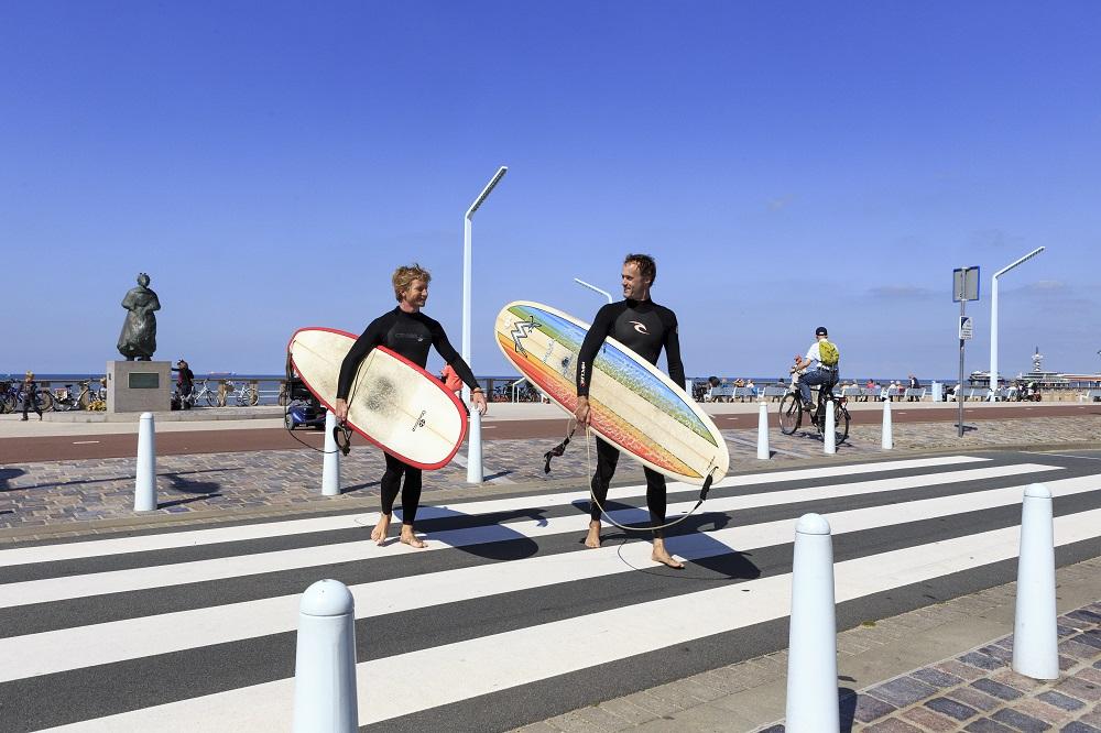 Netherlands, Den Haag. Scheveningen strand & boulevard