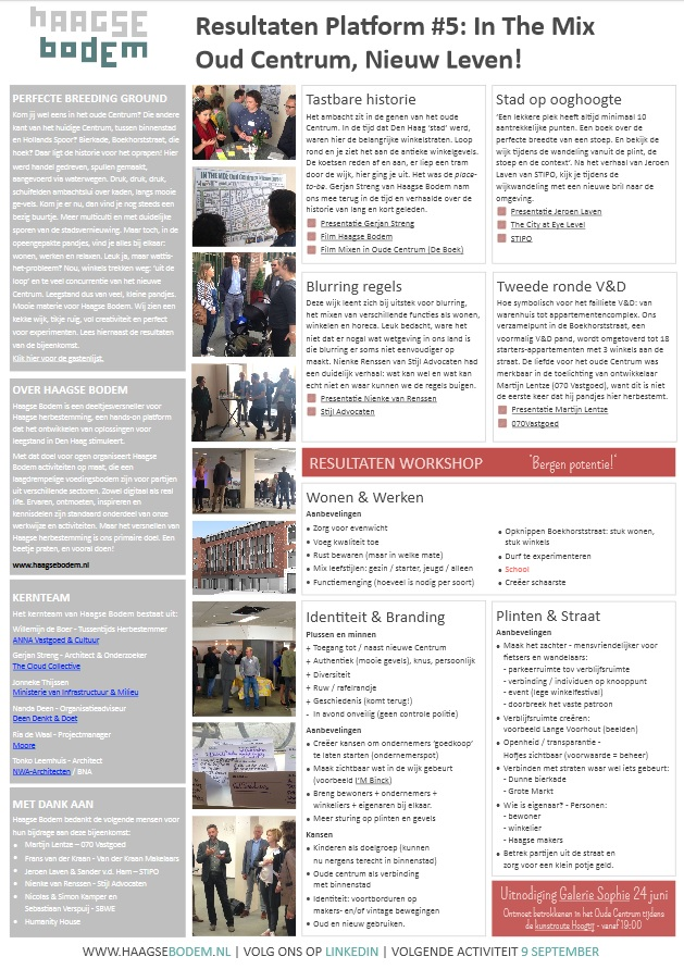 Resultaten bijeenkomst Haagse Bodem over het Oude Centrum in Den Haag