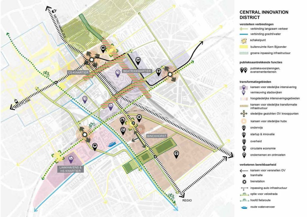 Kaart plan Central Innovation District