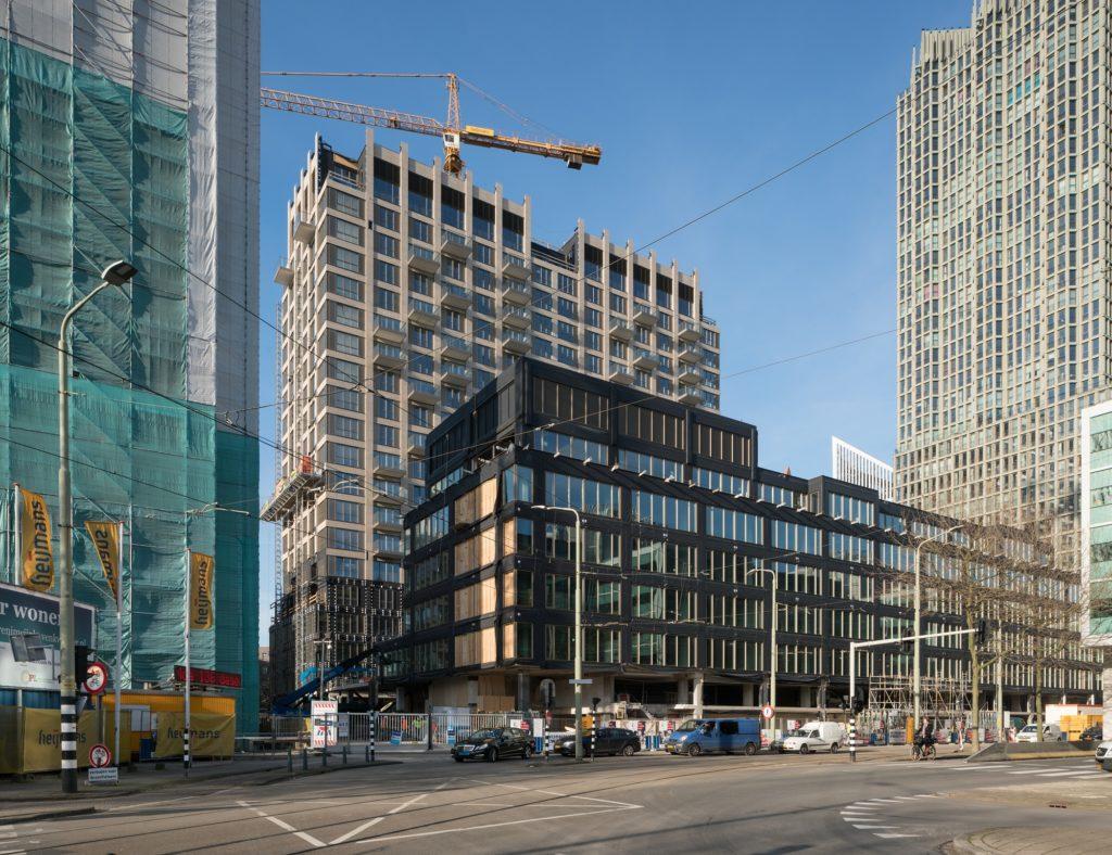 Wijnhavenkwartier tijdens transformatie met zicht op nieuwe straat Turfhaven