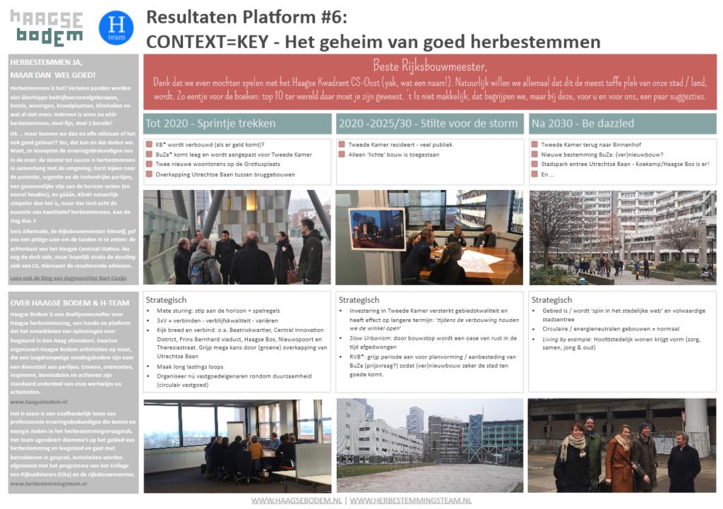 resultaat bijeenkomst Haagse Bodem goed herbestemmen