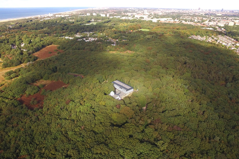 Luchtfoto locatie verslavingskliniek in natuurgebied solleveld