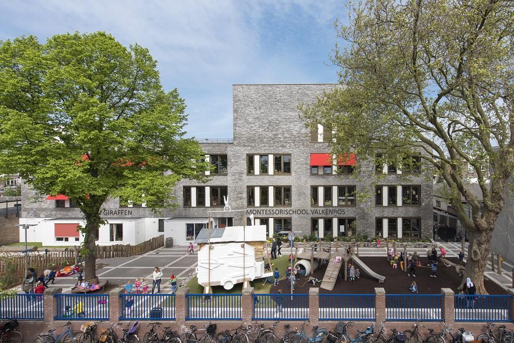 montessorischool Valkenbos schoolplein
