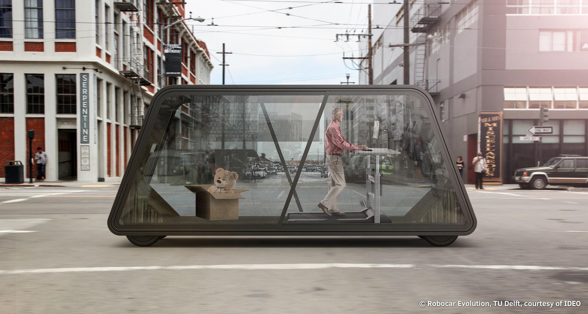 ontwerp voor zelfrijdende auto