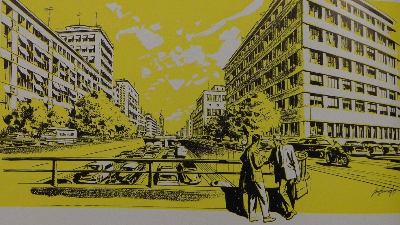 Voorstel stadsautoweg uit 1957