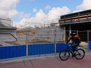 bouwplaats bij station Hollands Spoor