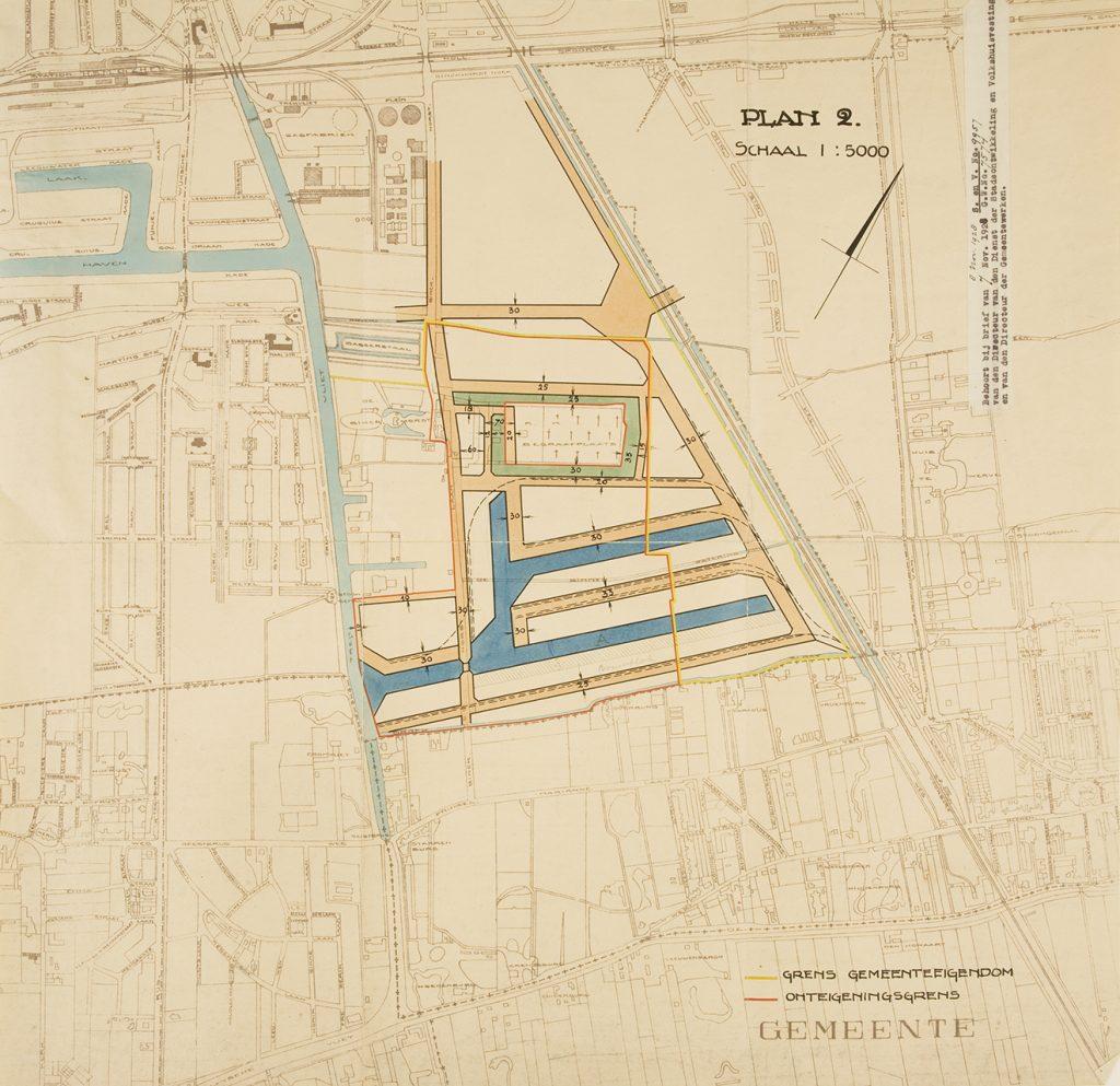 stedenbouwkundig plan voor de Binckhorst uit 1928